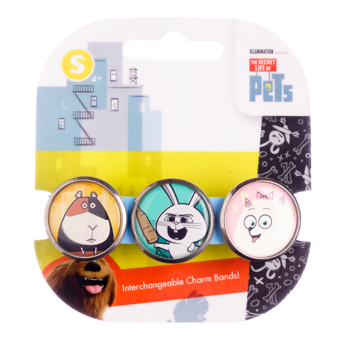 Secret Life of Pets Jumbo 3 Charm Band #1